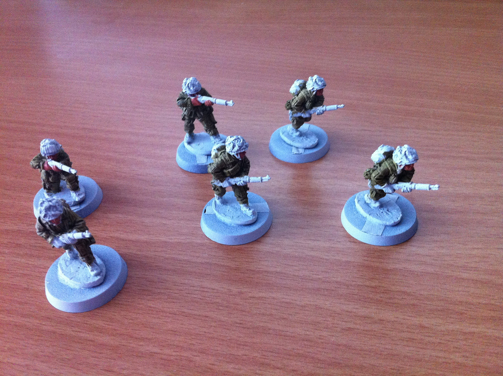 28mm US Paratroopers WIP